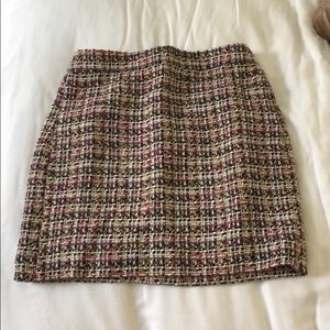 Silk lined j.crew skirt!